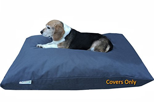Do It Yourself DIY Pet Bed Pillow Duvet Oxford Cover + Waterproof Internal case for Dog/Cat at Medium 36'X29' Dark Slate Color - Covers only