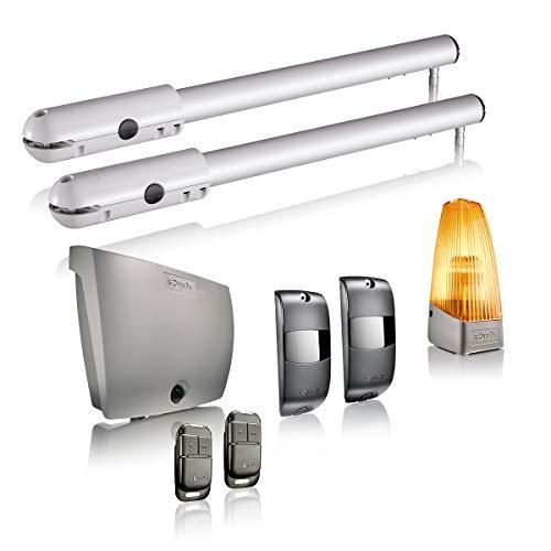 Somfy 1240370 - Motorisation SGS Essential RTS pour Portail Battant   Livrée avec 2 Télécommandes Keypop, Feu Orange, et Photocellules   Compatible TaHoma