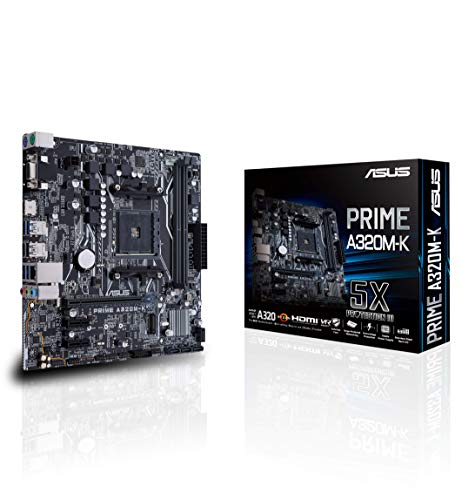 Asus Prime A320M-K moederbord socket AM4 (uATX, AMD A320, Ryzen, 2x DDR4 geheugen, USB 3.0, M.2 interface)