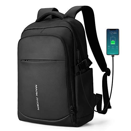 Mark Ryden 2019 Neue Diebstahlsicherung Mode Männer Rucksack Multifunktions wasserdichte 15,6 Zoll Laptop Tasche Mann USB Lade Reisetasche (3.0Schwarz)