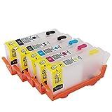 WSCHENG para HP564 Cartucho de Tinta Recargable para HP 564 XL para HP C309A 5510 6510 6510 B209 C310A C310B C310C C410A C410B con Chip de Arco