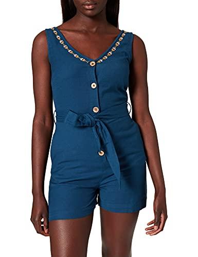 Springfield Mono Bordado Pantalones Cortos, Azul Oscuro, 42 Mujer