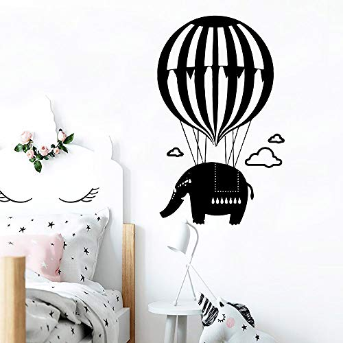 zhuziji Elvis Wall Art Stickersplane Balloon Elephants Company Adesivo De Pnordic Decorazione Camera da lettovinylpvc77x126cm