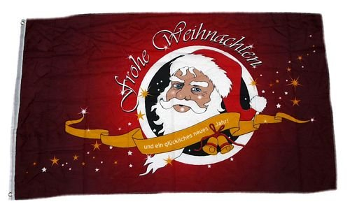 Fahne/Flagge Frohe Weihnachten rot 90 x 150 cm