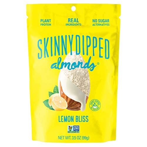 SKINNYDIPPED Lemon Bliss Yogurt Covered Almonds, 3.5 oz Resealable Bag, 5 Count