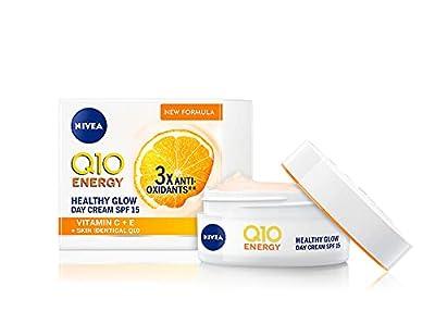 NIVEA Q10 Energy Healthy Glow Face Day Cream (50ml), Energising Day Cream, Face Cream for Women, Moisturising Cream, Face Cream with Q10, Vitamin C, and Vitamin E from Beiersdorf