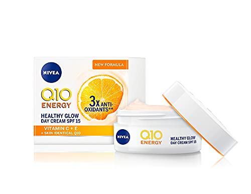 NIVEA Q10 Energy Healthy Glow Face Tagescreme (50 ml), Energisierende Tagescreme, Gesichtscreme für...