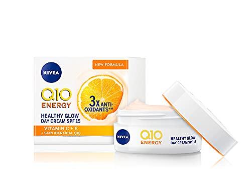 NIVEA Q10 Energy Healthy Glow Face Tagescreme (50 ml), Energisierende Tagescreme, Gesichtscreme für Frauen, Feuchtigkeitscreme, Gesichtscreme mit Q10, Vitamin C und Vitamin E