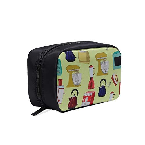 Mode Arbeitstasche Niedlichen Cartoon Kaffeemaschine Werkzeug Drucken Kosmetiktasche Mädchen Make-Up Tasche Für Kinder Zubehör Reisetasche Kosmetiktaschen Multifunktions Fall Kinder Mode Taschen