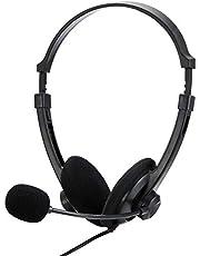 BUFFALO 両耳ヘッドバンド式ヘッドセット USB接続 ブラック BSHSUH12BK