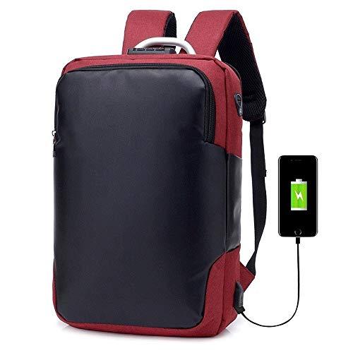 Cfilet Mochila Bolsa de Viaje Hombre Súper Impermeable Unisex Hombres Mochila Sports Pack una Bolsa de Carga USB de Carga Bolsas de Hombres de Negocios (Color : Claret)
