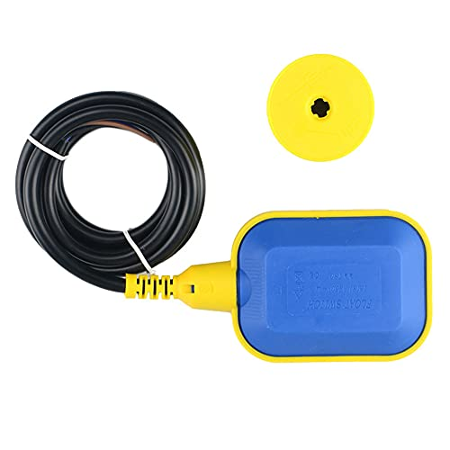 YeenGreen Interruptor Nivel Agua deposito, Controlador de Nivel de Agua de Cable 5m, Tipo de Cable Interruptor de Flotador, 250V 16A, para Fosa Séptica, Tanque de Aguas Residuales, Tanque de Agua