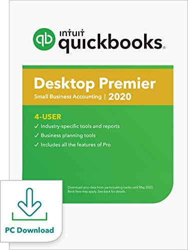 QuickBooks Desktop Premier 2020 Accounting Software for Business for Small Business - 4 User [PC Download]