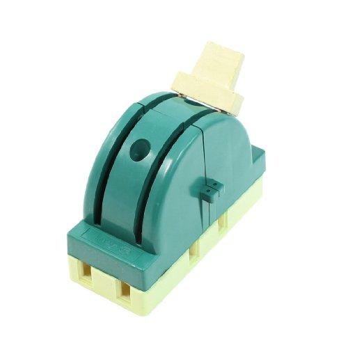 uxcell ディスコネクトスイッチ 2極 グリーンスイッチ AC 250V 32A 回路制御ナイフ切断