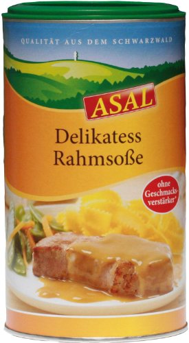 ASAL Delikatess Rahmsoße 220g für 2 Liter – schmackhaft-cremige Rahmsauce für einen vielseitigen Einsatz in Ihrer Küche, ohne Geschmacksverstärker, keine Zugabe von Butter oder Sahne notwendig, aromatisch-würziger Geschmack