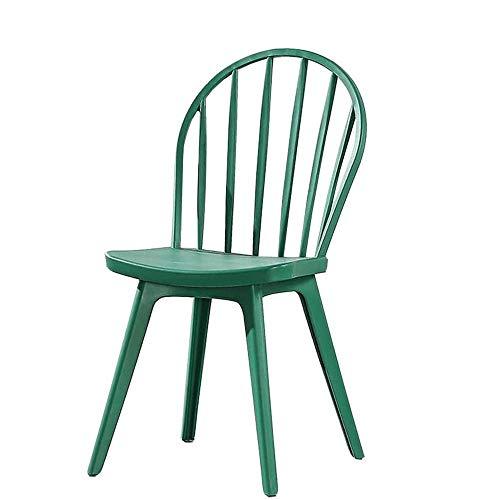 SXNYLY Sillas de Oficina Sillones Marco apilable Silla de Ordenador Plasticl sillas Sala de Tareas Escritorio Adecuado for restaurantes, cafeterias (Color : Verde)