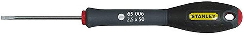 Stanley Fatmax 1-65-006 schroevendraaier met parallelblad 2,5 x 50 mm met soft-grip
