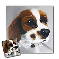 handpainted pet portrait in oil from your photo