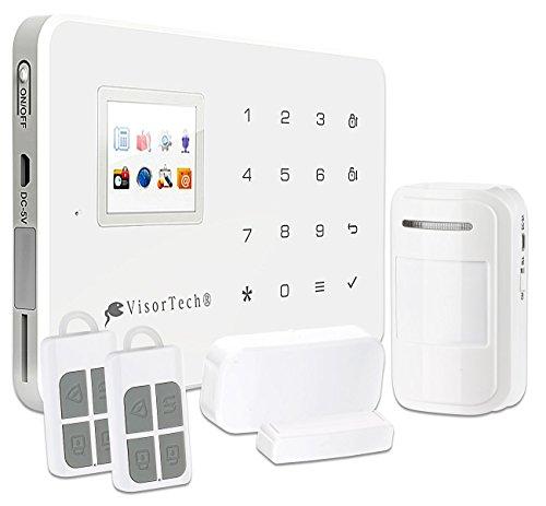 VisorTech Alarmanlage mit Handy: GSM-Alarmanlage mit Funk- & Handynetz-Anbindung XMD-4400.pro (Alarmanlage mit SIM-Karte)