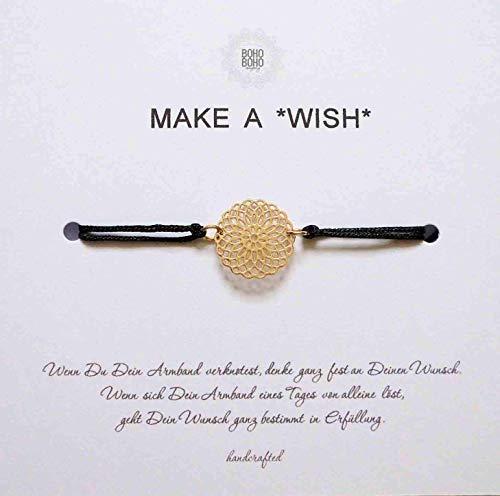 Make A *Wish* - Wunscharmband/Glücksarmband * Mandala Gold