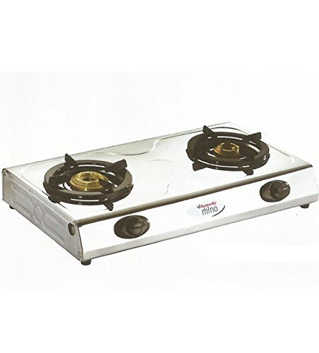 Butterfly Stainless Steel Rhino 2 Burner Gas Stove