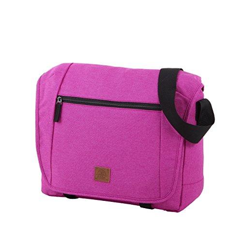 Rada Umhängetasche CT/2/L, Wasserabweisende Laptoptasche für Macbooks und Laptops bis zu 16 Zoll, Umhängetasche für Damen und Herren (Maße: 38x31x9cm) (pink)