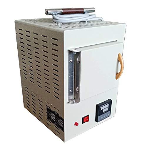 MXBAOHENG Horno de muffle de fibra de cerámica cerrado laboratorio pequeño horno eléctrico integrado de control de programa de alta temperatura horno 100~1000℃ 165×120×105mm