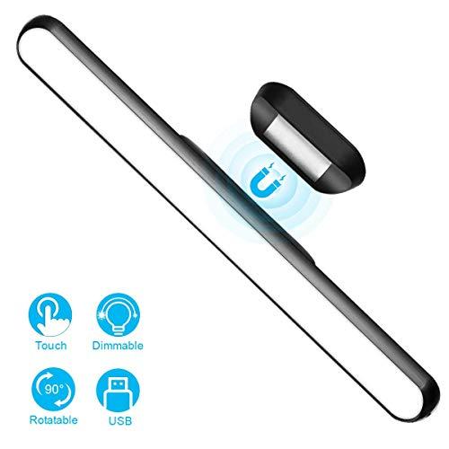 WILLED Touch Dimmbar Lichtleiste Schrankbeleuchtung, 3W Eingebaut 2000mAh Wiederaufladbar Batteriebetrieben, mit Magnet, für Küche, Schrank,Schminkleuchte, Spiegellampe, Nachttischlampe