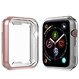 Anjoo [2 Set] Funda Compatible Para Apple Watch 40mm, Suave TPU Completo Protector Pantalla Para...