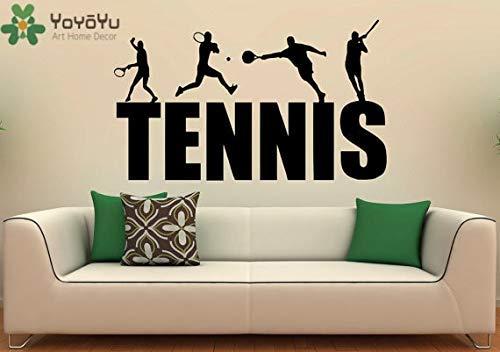 Muursticker Tennis Racket Sport Photo Art Vinyl behang Decal Verwijderbare Home Decor42*70cm