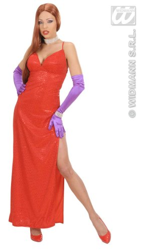 WIDMANN WID58921?Disfraz para adultos de femme fatale, rojo, S