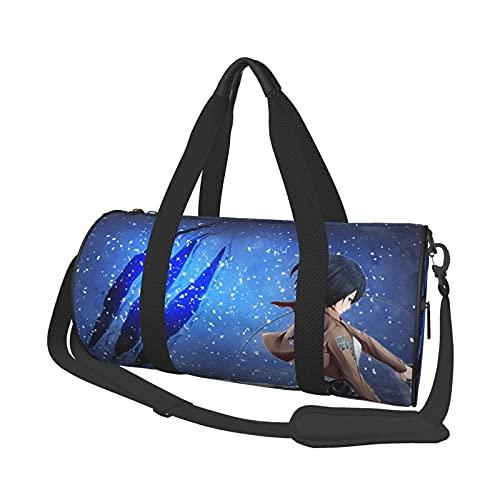 Fighting Anime Duffel Bag Folle Gym Bag Bolsas de Viaje, para Deporte, Militar, Acampar, Actividades al Aire Libre, Bolsa de Asas, Juegos de 17,7 x 9 Pulgadas