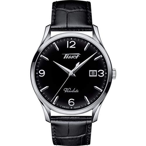TISSOT Herren Analog Quarz Uhr mit Leder Armband T1164101603700