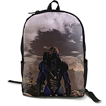 Akeanu Mass Effect 2 Game Travel Laptop Backpack,Fashion Business Slim Durable Laptops Backpack,College School Computer Bag Gifts For Men & Women Fits 15 Inch Notebook&Ipad