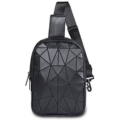 VBIGER Brusttasche Damen Herren Geometrische Schultertasche Umhängetasche Daypack