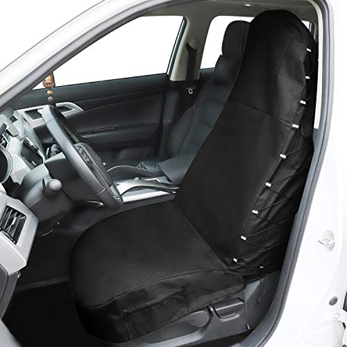 Winload Coprisedili Auto Anteriori, Universali Coperture Sedile Auto, Impermeabile Fodere, Copertura Protezione per Sedili Auto Veicolo, con 5 Pocket Organizzatori Coprisedile, per Fitness, Nuoto