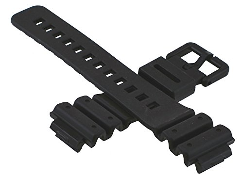 Casio G-shock 71604262 Original Factory Black Rubber Watch Band Strap fits DW-6100-1V DW-6100-7V DW-6900-1V DW-6900G-1V
