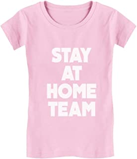 Stay at Home Team Shirt Self Quarantine Toddler Kids Girls' Fitted T-Shirt