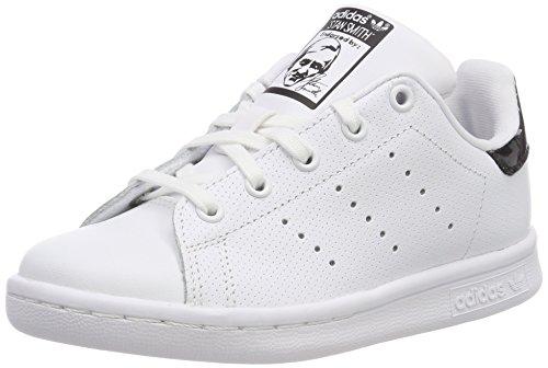 Adidas Stan Smith C, Zapatillas de Deporte Niños Unisex niño, Blanco (Ftwbla/Ftwbla/Negbas 000), 30.5 EU