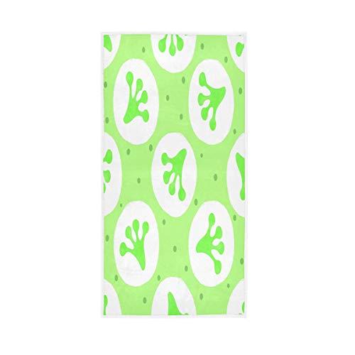 F17 Toalla de mano con diseño de rana de lunares de 30 x 15 pulgadas, toalla de mano para el hogar, cocina, baño, gimnasio, natación, spa