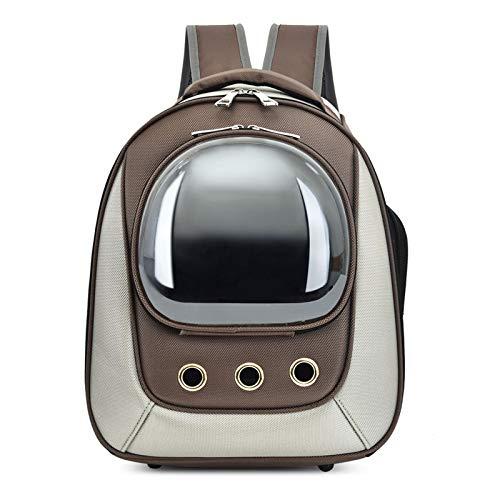 GUOGUODA Mochila con Burbujas,Bolsa de Transporte ventilada portátil para Perros pequeños Transparente Impermeable al Aire Libre,diseño de cápsula Transpirable Mochila Transpirable Cápsula Mascotas