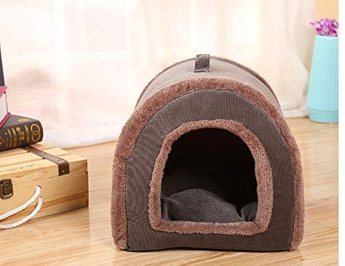 Donkere en vlekbestendige draagbare tent pet den Modieuze en comfortabele corduroy strepen verwijderbare en wasbare katten- en hondenhok