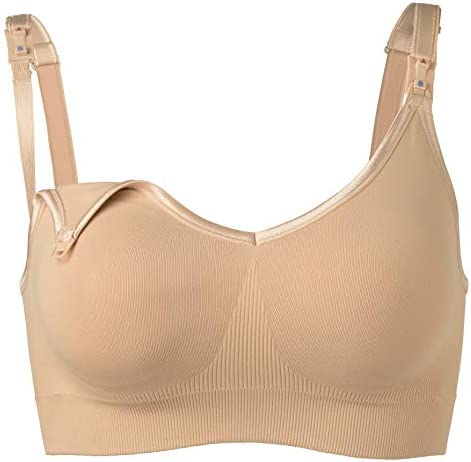 Kaye Larcky Womens Maternity Seamless Nursing Bra with Breastfeeding Reminder Tab Clips product image