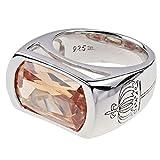 Pompöös Harald Glöckler Ring für Frauen Silber 925 rhodiniert Zirkonia Cognac Gr. 56
