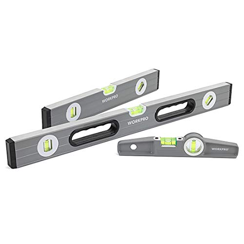 "WORKPRO 3Pcs Spirit Level Set(9"", 12"", 24""), W002900A"