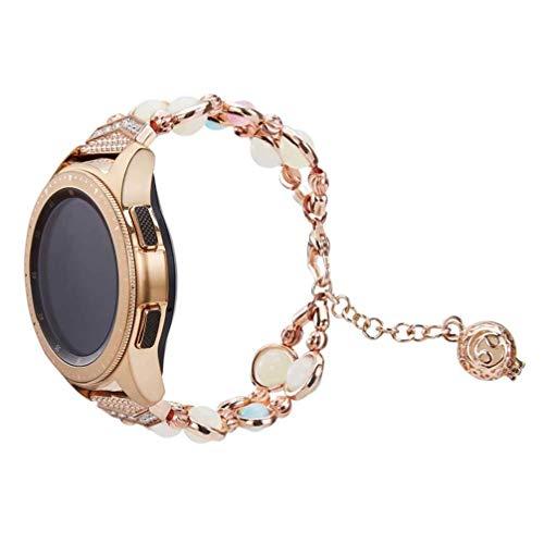 Baluue Compatible para Samsung Galaxy Watch Strap - 42Mm Ágata Joyas Correa de Reloj Smartwatch Correa Correa de Reemplazo de Reloj
