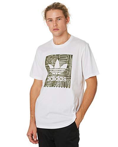 adidas Dakari BB Tee – Maglietta da Uomo, Uomo, Maglietta, DU8353, Bianco/Caqpur/Carnoc, XS