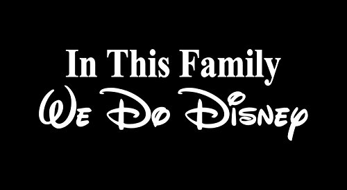 in This Car We Do Disney - Car Decal - Made in USA - Disney Family - 7.9' Wide (Family, White)