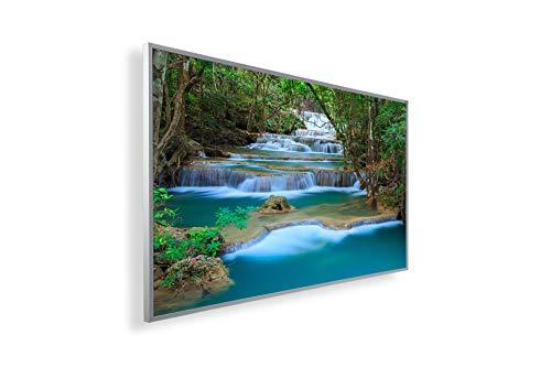 Könighaus Bildheizung (Infrarotheizung mit hochauflösendem Motiv) 5 Jahre Garantie (450-Kanchanaburi Wasserfall Thailand) - inkl. Thermostat
