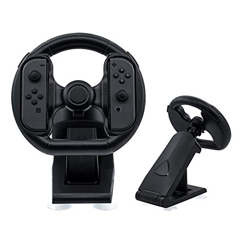 Mcbazel Coche de Carreras Volante Controlador de Juegos de Conducción Soporte con Ventosa para NS Switch Joycon Controller